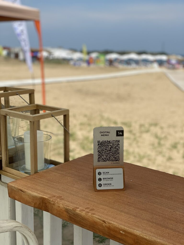 qr code beach Touchmenu- Българският продукт, който пренася обслужването в хотелите на друго ниво