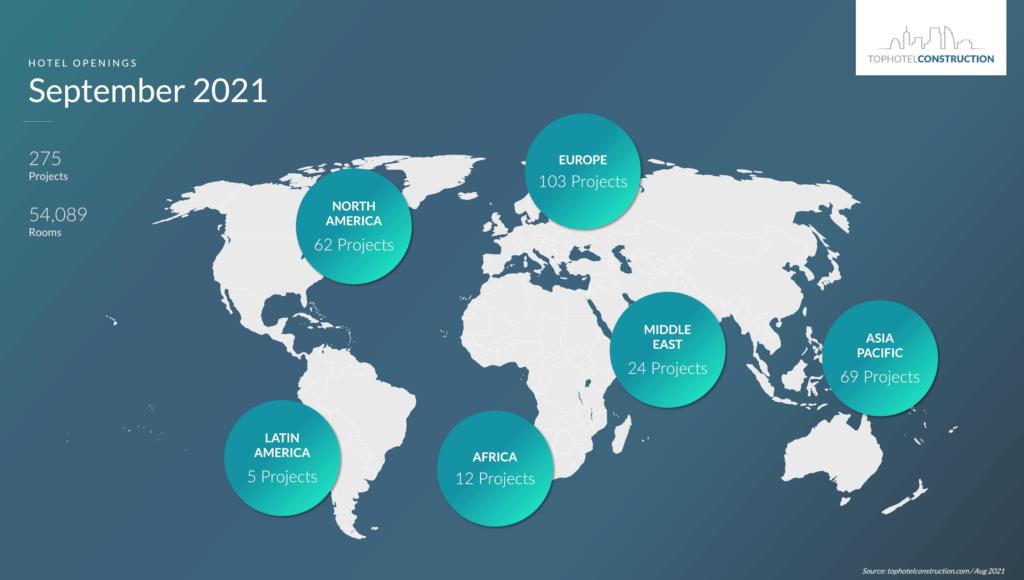 thco september21 Европа с най-много хотелски проекти за месец септември, Hilton номер едно при веригите